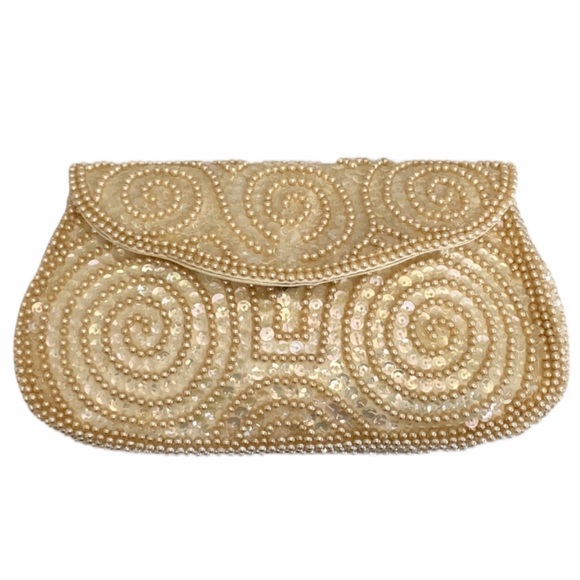 Vintage Beaded Sequin Clutch By David's Japan